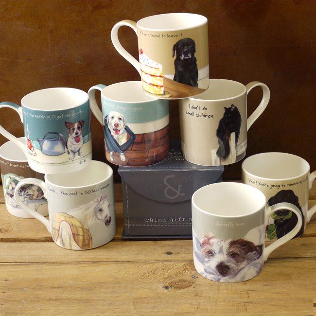 Black Labrador Gift Mug Criminal The Little Dog Laughed