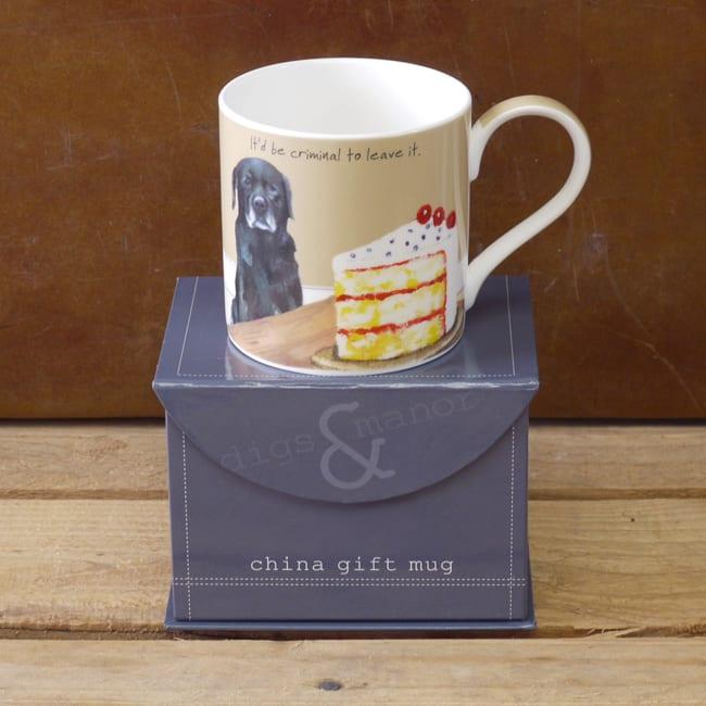 Black Labrador Boxed Gift Mug Criminal The Little Dog