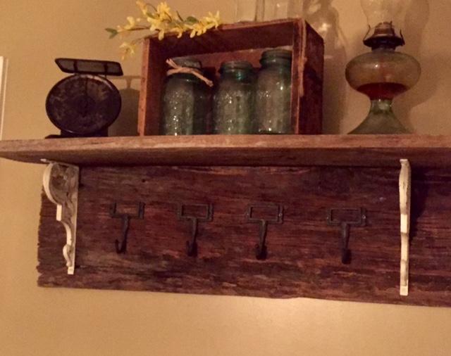 DIY Barn Wood Coat Rack