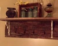 DIY Barn Wood Coat Rack - The Little Frugal House