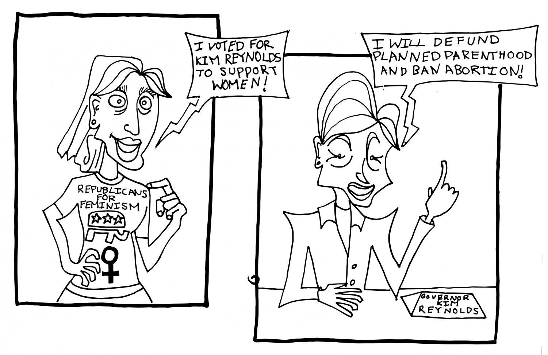 Kim Reynolds Political Cartoon