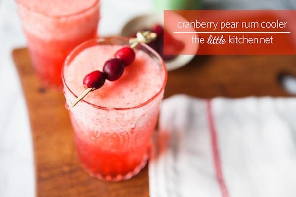 Cranberry Pear Rum Cooler