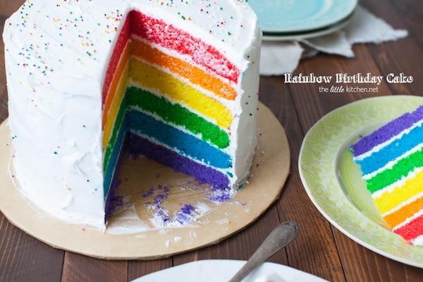 Rainbow Birthday Cake The Little Kitchen