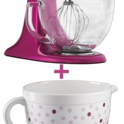 Kitchen Aid Bowls Wall Tile Kitchenaid Raspberry Ice Stand Mixer Ceramic Bowl Giveaway The Thelittlekitchen Net