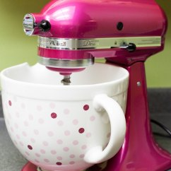 Kitchen Aid Bowls Pre Assembled Cabinets Kitchenaid Raspberry Ice Stand Mixer Ceramic Bowl Giveaway The 10 000 Cupcakes Thelittlekitchen Net