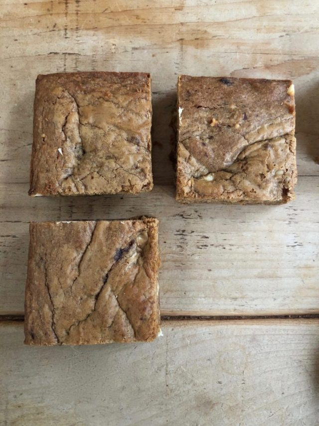 Double nut butter blondies - 2