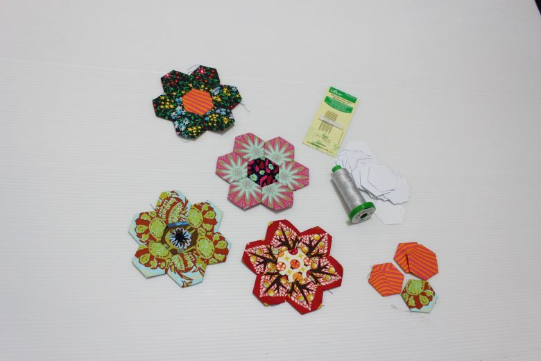English Paper Piecing Hexagon Pincushion