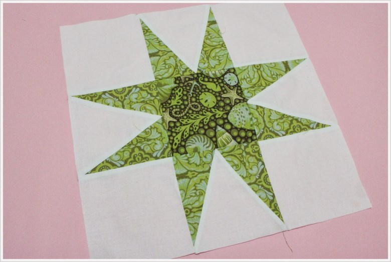 About A Quilt Sampler QAL #19 & #20 :: Piecing and quilting block #9