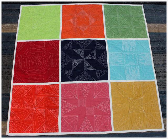 About A Quilt Sampler_Tutorial On littlemushroomcap_back of quilt