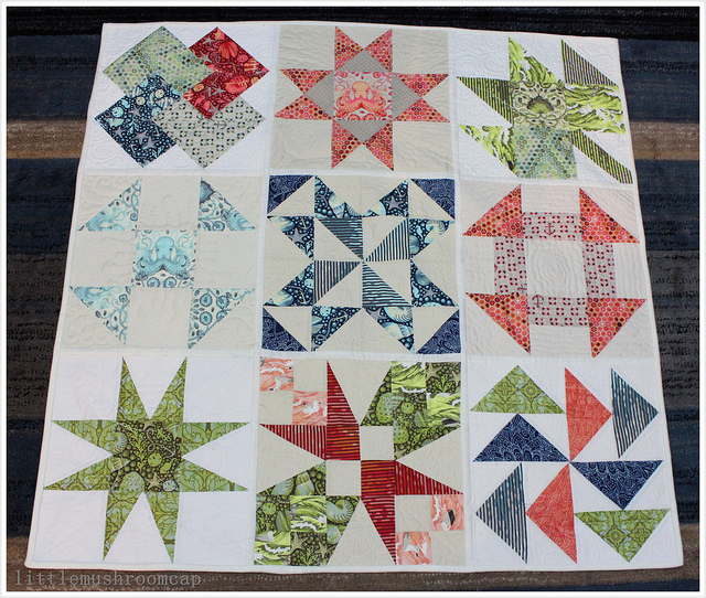 About A Quilt Sampler Final post : How To Join Quilt As You Go Blocks