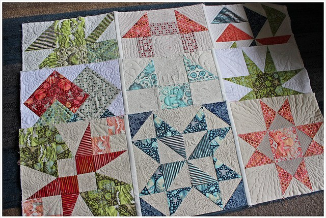 Do for all three rows - complete the slip stitches before attaching rows together