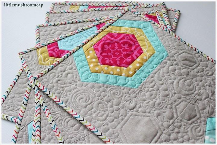 improv modern quilt  improv hexagon  free tutorial how to   modern quilt