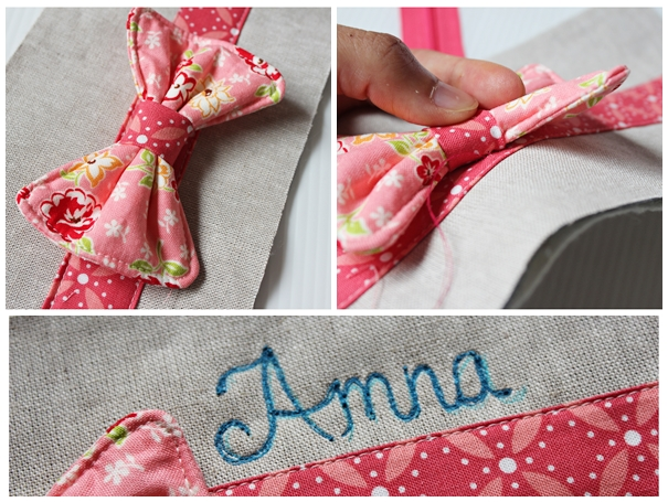 Sewing Tutorial : Bow Pencil Pouch