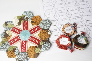 Free hexagon english paper piecing template