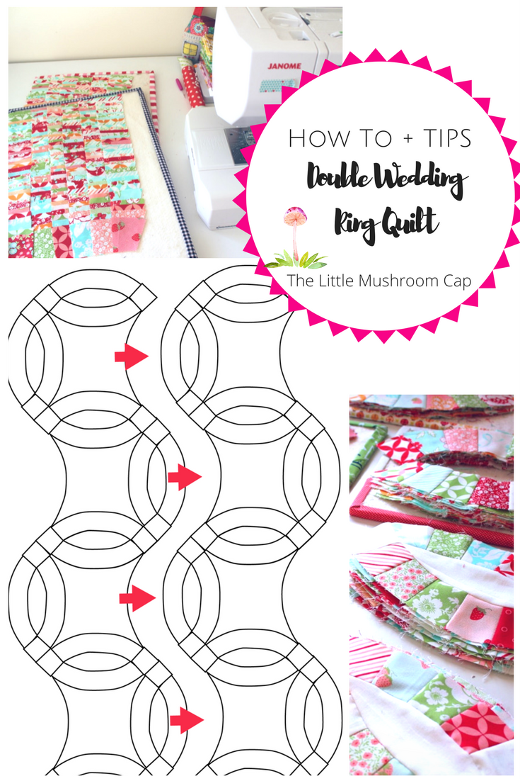 picture relating to Free Printable Double Wedding Ring Quilt Pattern named How toward Crank out a Double Marriage Ring Quilt - The Very little