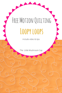 free motion quilting design loopy loop | tips and video | more on the blog