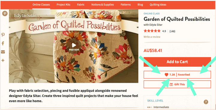 Craftsy FREE Classes Learn to quilt today for FREE