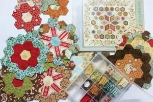 English Paper Piecing Hexagon Flower Garden