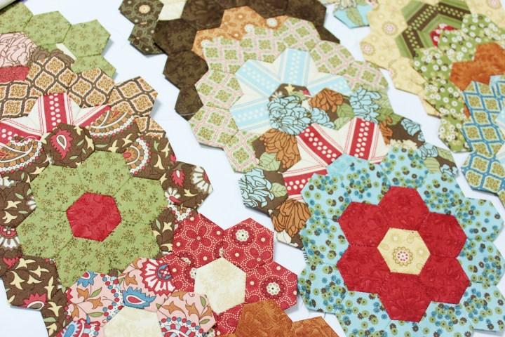 Flower garden update english paper piecing quilt the little english paper piecing hexagon flower garden free english paper piecing templates mightylinksfo