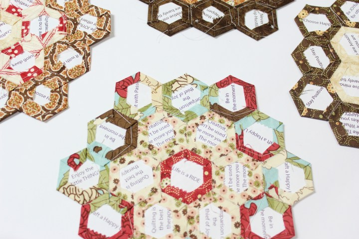 free english paper piecing hexagon templates - flower garden update english paper piecing quilt the