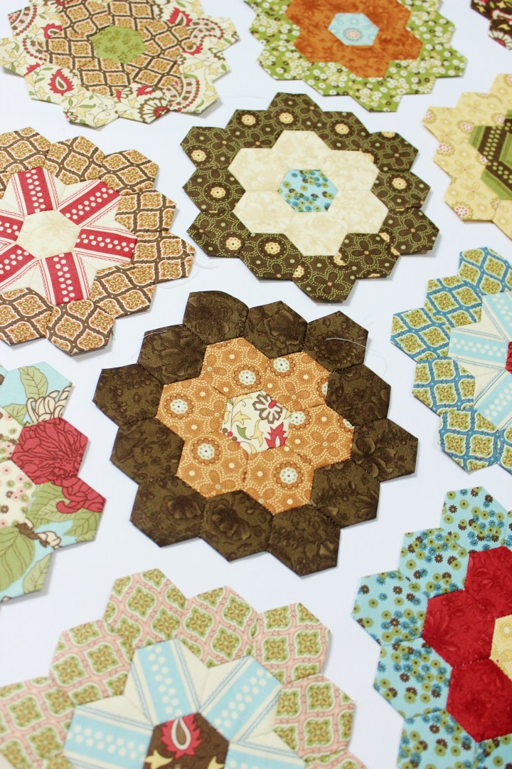 Flower garden update english paper piecing quilt the little english paper piecing hexagon flower garden free english paper piecing templates maxwellsz