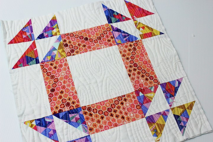 Free motion quilting woodgrain Sewcial Bee Sampler Custom Quilting Quilt As You Go Blocks