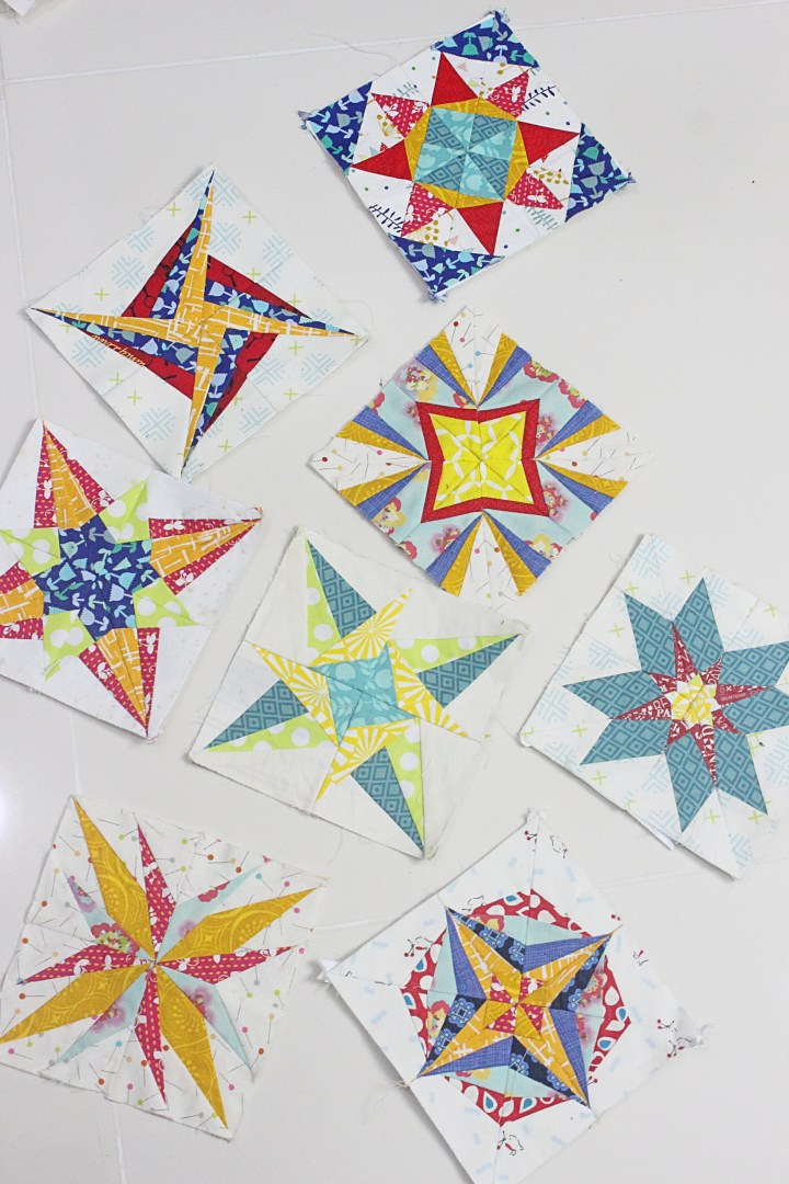 Lucky Star BOM foundation paper piecing quilt