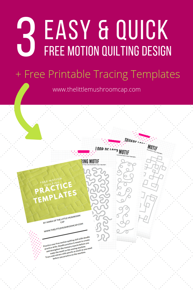 picture regarding Printable Free Motion Quilting Templates titled 3 all-more than absolutely free action quilting style and design for a simple close +