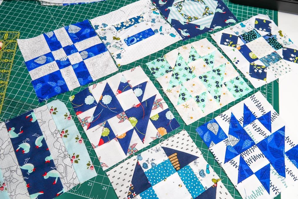 Blue and white Quilt Sampler Quilt