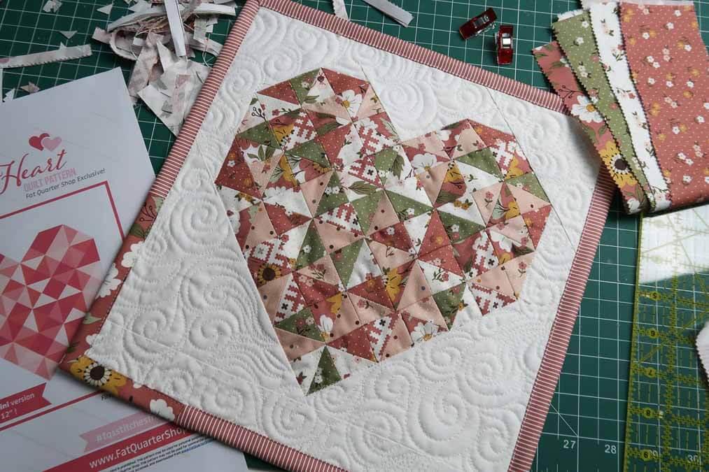 heart quilt block free pattern