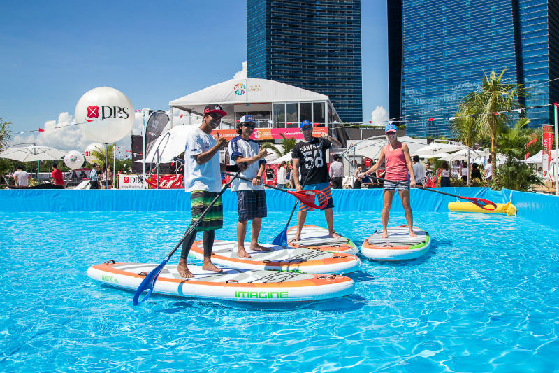 Stand Up paddling DBS Marina Regatta