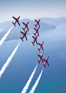 RAF Red Arrows in Singapore