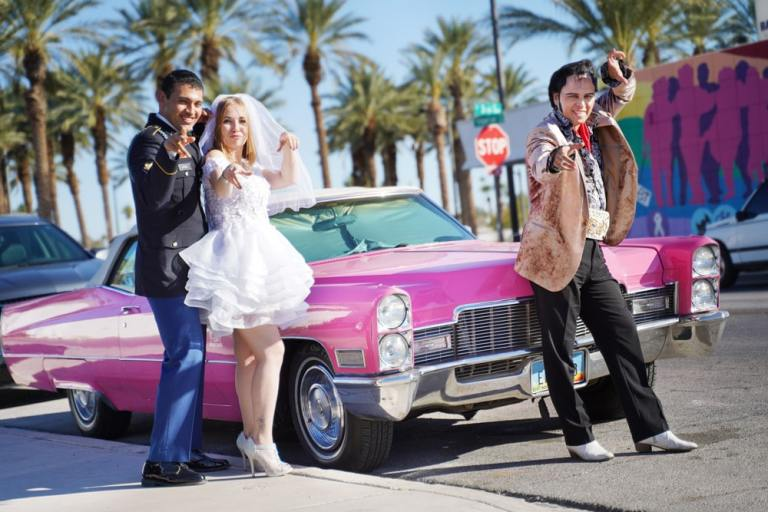 Elvis Pink Cadillac Wedding