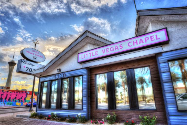 Little Vegas Wedding Chapel Exterior