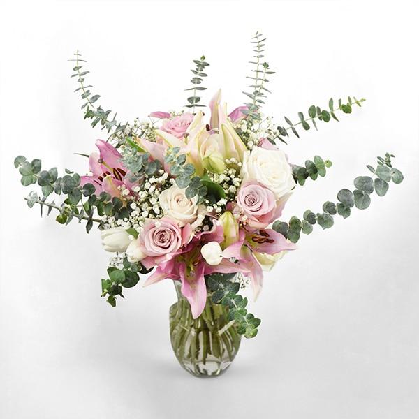 Rustic Bouquet Eucalyptus Lillies