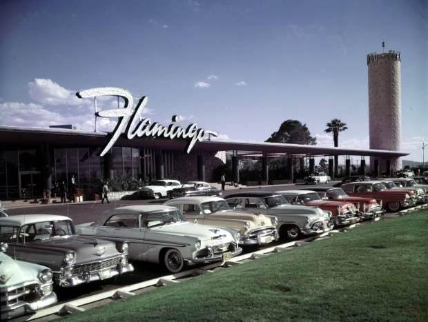 The Flamingo Las Vegas old vintage photo