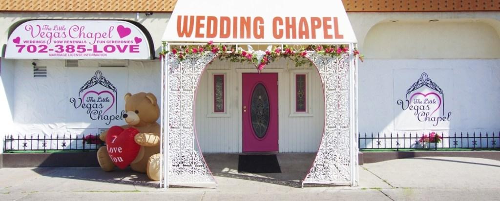 Our famous little chapel in Las Vegas!