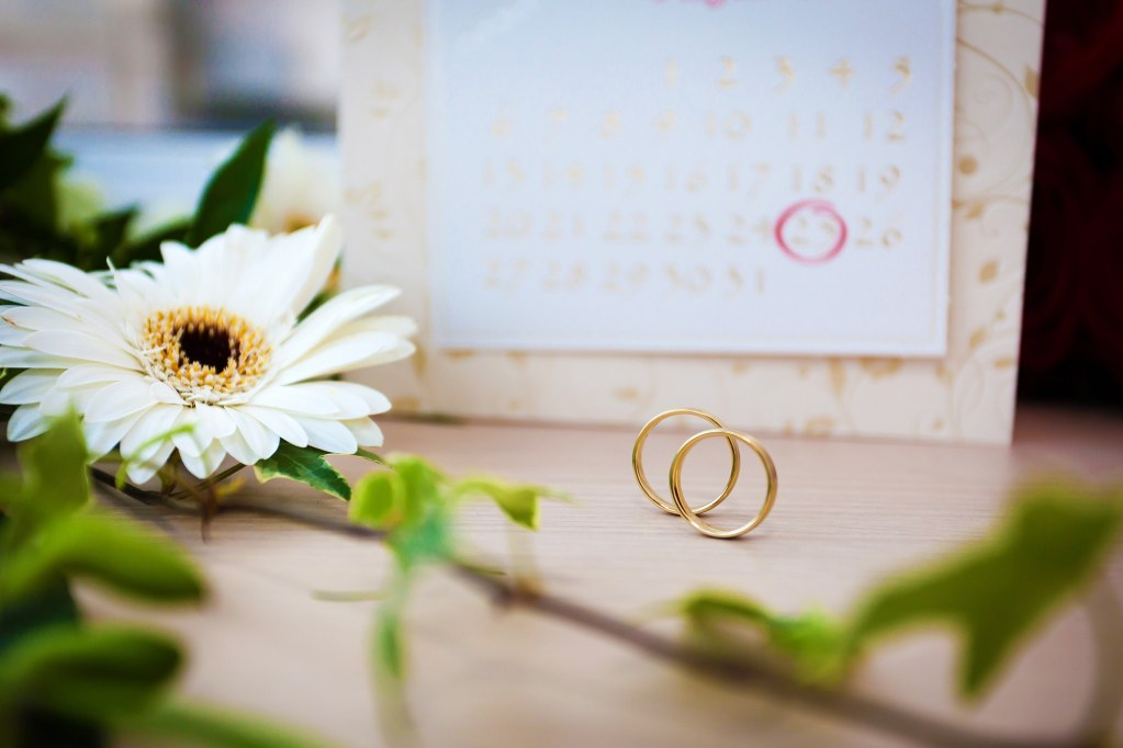 Planning Your Own Wedding With Rings and Calendar
