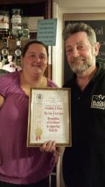 Camra Award for Gerladine and Pete