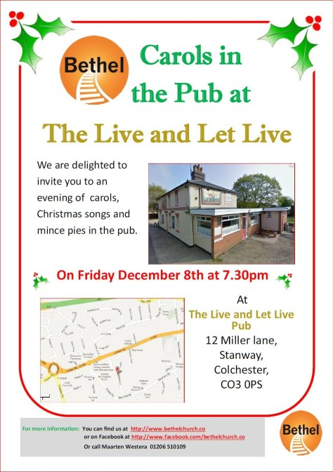 Carols in the pub 2017