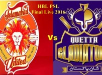 PSl Final Live 2016 Quetta Gladiators VS Islamabad United 23 Feb