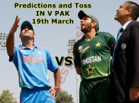 Pakistan Vs India Match Prediction T20 World Cup 2016 Toss