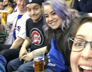 Brewers Game with Rachel and friends