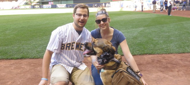 Finn at the Brewer game