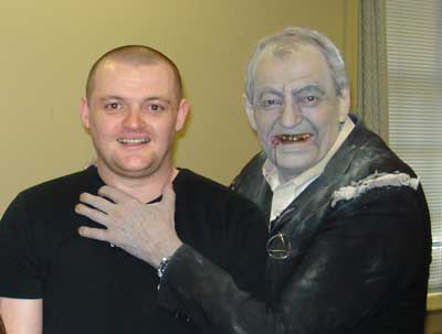 Night of the Living Dead's Bill Hinzman in full Zombie Ghoul Makeup attacks Daz