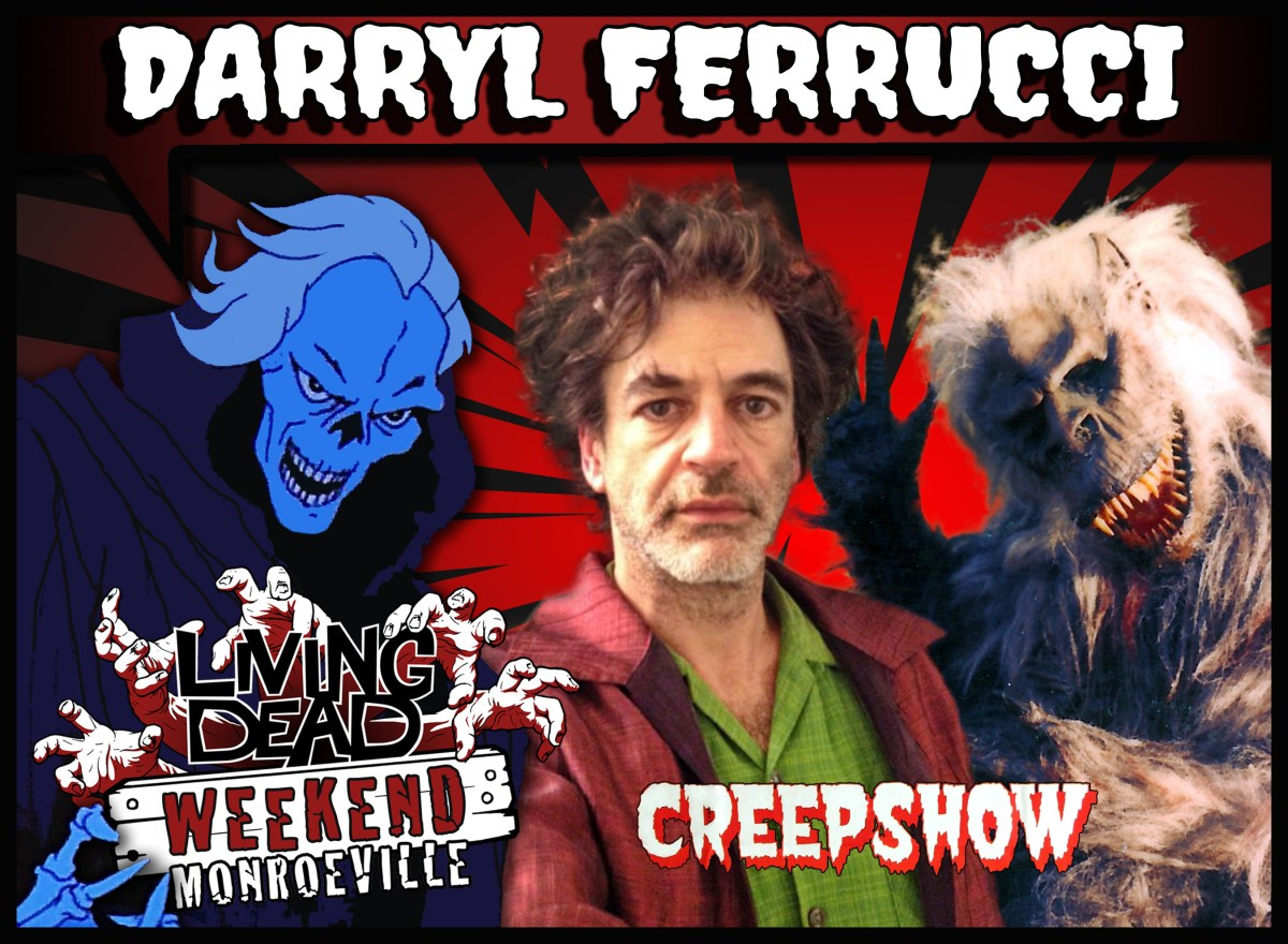 Darryl Ferrucci CREEPSHOW CRATE BEAST FLUFFY LIVING DEAD WEEKEND AT Monroeville Mall June 14-16 2019 Horror Convention