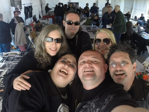 Night of the Living Dead Kyra Schon with friends at Living Dead Festival in Evans City PA