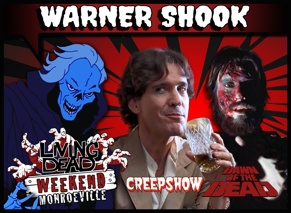 Warner Shook Creepshow and Dawn of the Dead Tales from the Darkside and Monsters George Romero's Creepshow Richard Grantham in Father's Day Monsters TV Series Monroeville Mall Security guard zombie boiler room Pittsburgh