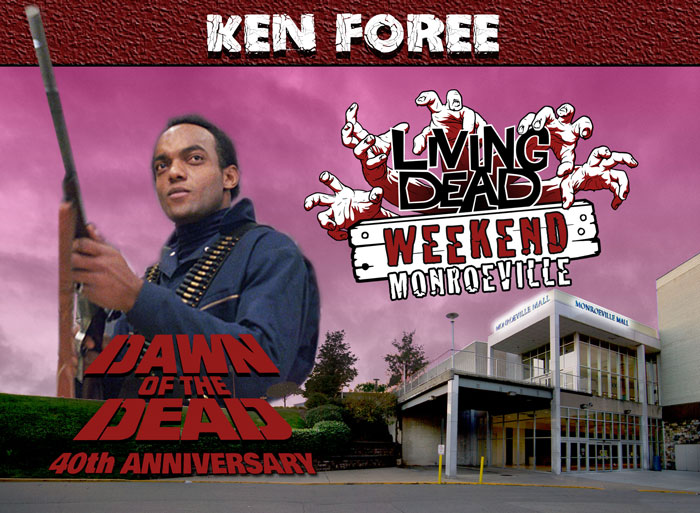 Living Dead Weekend Monroeville Mall June 8-10 2018 Ken Foree George A Romero's Zombie Dawn of the Dead web