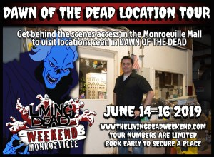 Lawrence DeVincentz is our George A. Romero Historian, Collector and EXPERT Tour guide for the Living Dead Weekend in Monroeville and Evans City Two Horror Conventions in the Zombie Capitol of the World. Night of the Living Dead and DAY OF THE DEAD